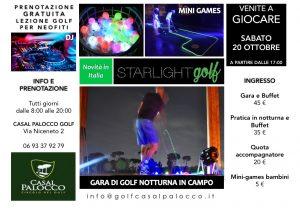 Locandina Trofeo Starlight Golf Casal Palocco-20 Octobre 2018