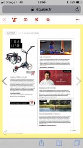 Article Journal du Golf_LEQUIPE_Starlight Golf_Avril2019