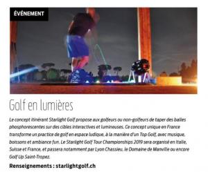 Brève Club House_Starlight Golf_Journal du Golf_Aril2019_numéro145