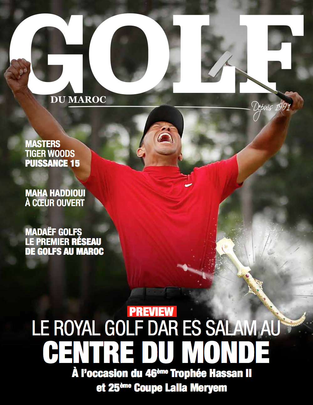 Couverture Golf Maroc Tiger Woods
