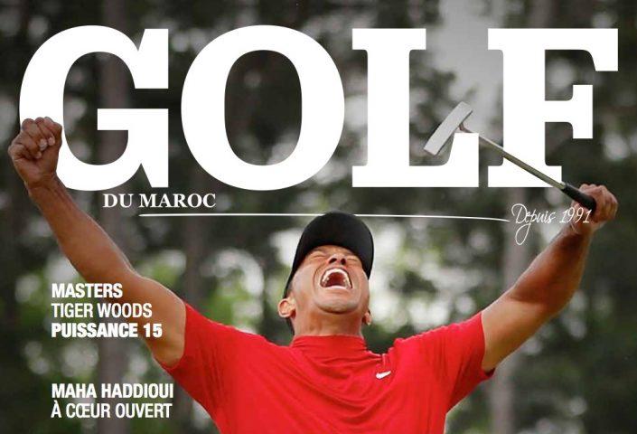 Couverture Tiger Woods Golf du Maroc parution Starlight Golf Tour Championships 2019